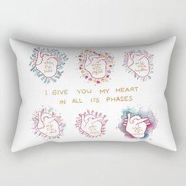 Phases of my heart Rectangular Pillow