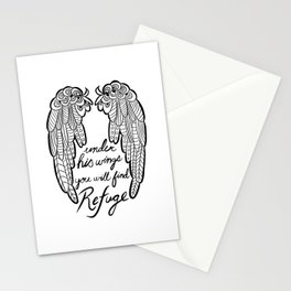 Under His Wings You Will Find Refuge Stationery Cards