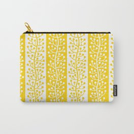 Mid Century Modern Berry Vine Stripes Yellow Carry-All Pouch