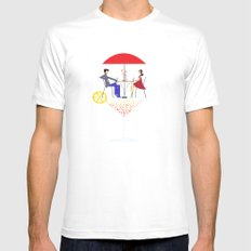 Cocktail MEDIUM White Mens Fitted Tee