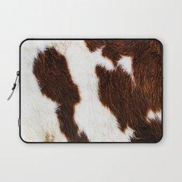 Cowhide Brown Spots Laptop Sleeve