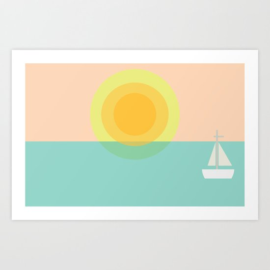 Sunset Dreams Art Print