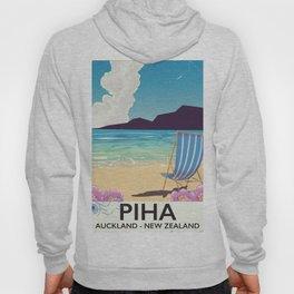Piha New Zealand vacation poster Hoody