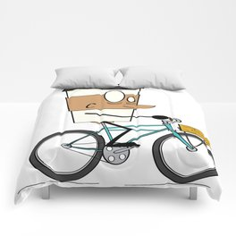Coffee Cup Biking Comforters
