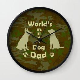 World's Best Dog Dad Wall Clock