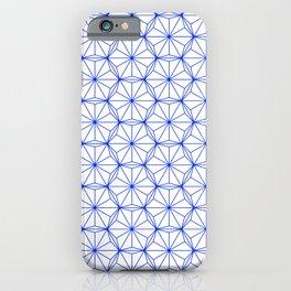 Blue Hexagon Pattern iPhone Case