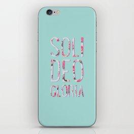 Soli Deo Gloria Floral iPhone Skin