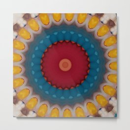 New Color Pyramidal Mandala 10 Metal Print