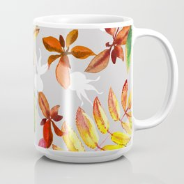 Seamless pattern of leaves of mountain ash and dogrose Coffee Mug
