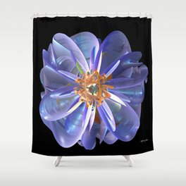 Purple & Gold Flower Shower Curtain