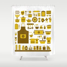 kitchenware Shower Curtain