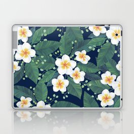Plumeria Pattern Laptop & iPad Skin