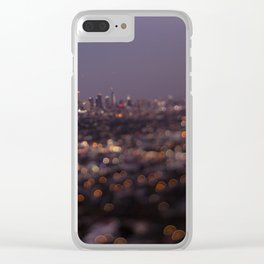 Angel City Lights (L.A. at Night) Clear iPhone Case