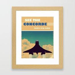 See the concorde vintage poster. Framed Art Print