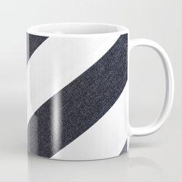 White Black Stripes Coffee Mug