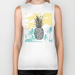 Pineapple print Biker Tank
