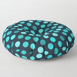 Watercolor Dots Pattern IV Floor Pillow