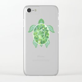 Turtle - Emerald Clear iPhone Case