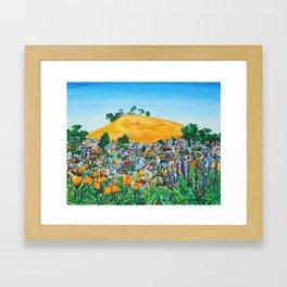 Wildflowers View of Bernal Hill Framed Art Print