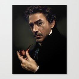 Portrait of Sherlock Holmes Canvas Print
