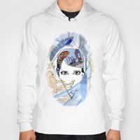 60s Hoodies featuring '60s Eyes Collage with White Background- High Saturation by Katy Rose