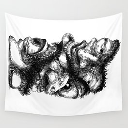 Graphic face Wall Tapestry