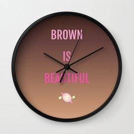 Brown Is Beautiful Wall Clock
