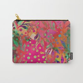 Tropical Summer colorful botanical pattern Carry-All Pouch
