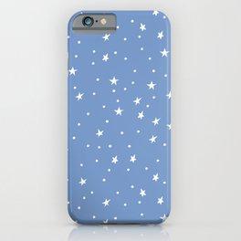 Doodle Stars on Cornflower iPhone Case