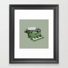 The Composition - G. Framed Art Print