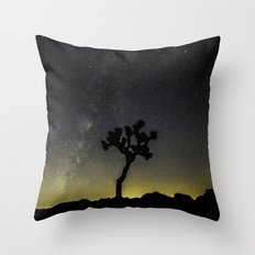 Milky Way at Joshua Tree Throw Pillow