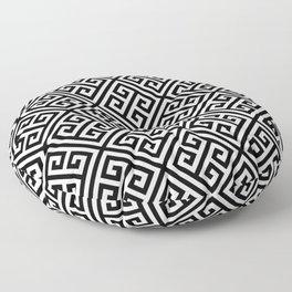 black and white pattern , Greek Key pattern -  Greek fret design Floor Pillow