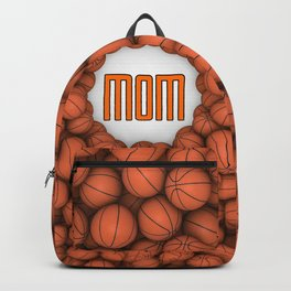 Basketball Mom / 3D render of hundreds of basketballs framing Mom text Backpack