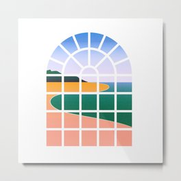 WINDOW 001: BEACH VIEW Metal Print