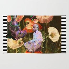 JAVA flowers shadow Rug