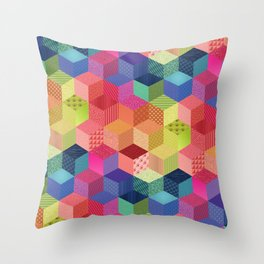 RAINBOW GEO PATTERN Throw Pillow