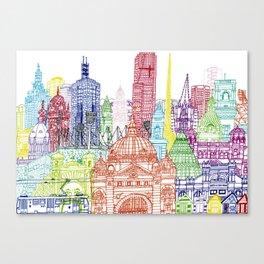 Melbourne Towers Canvas Print