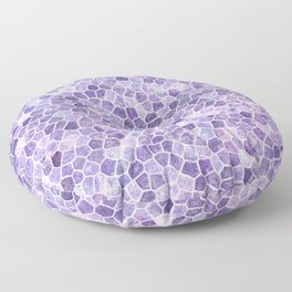 Lilac Cobbled Patchwork Terrazo Pattern Floor Pillow