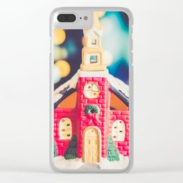 Christmas Chapel 3 Clear iPhone Case