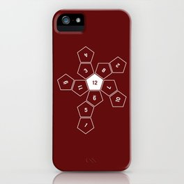 Unrolled D12 iPhone Case