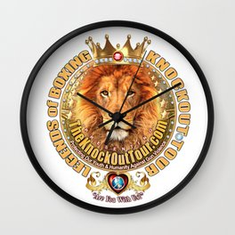 The Legends of Boxing Royal Lion Crest Wall Clock