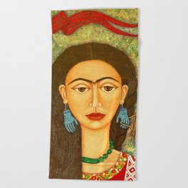 My homage to Frida Beach Towel