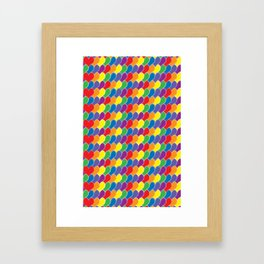Pride Heart Scale Pattern Framed Art Print
