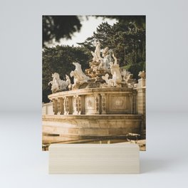 Neptune fountain at Schönbrunn Palace, Vienna, Austria Mini Art Print