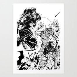 Blood Meat Art Print