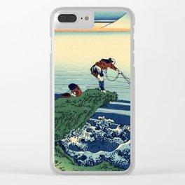 "Hokusai (1760-1849)  ""Kajikazawa in Kai Province"" Clear iPhone Case"