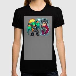 Teddy & Billy, Gay Nerds in Love - Pixel Art T-shirt
