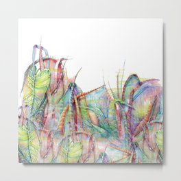 Vegetal color chaos Metal Print