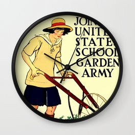Join the US School Garden Army Wall Clock