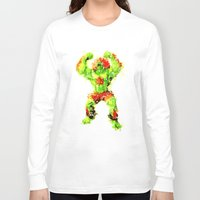 street fighter Long Sleeve T-shirts featuring Street Fighter II - Blanka by Carlo Spaziani